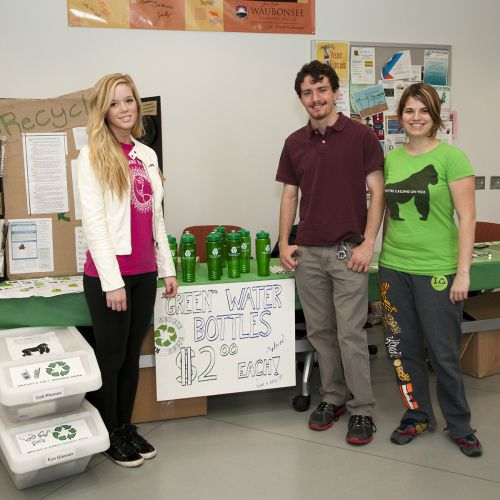 Earth Week 2012 with 3 Students