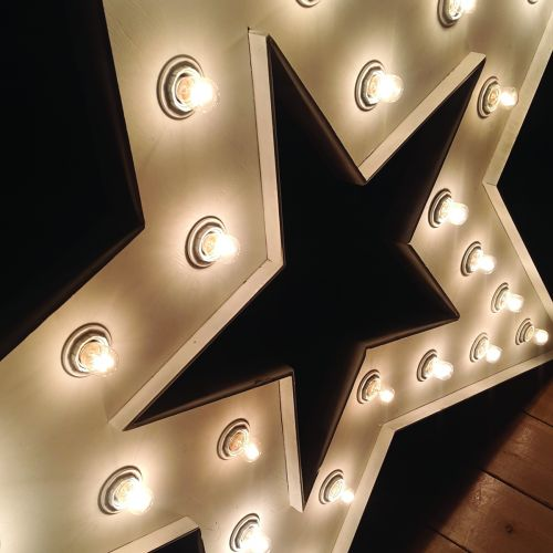 Star shape with lights s