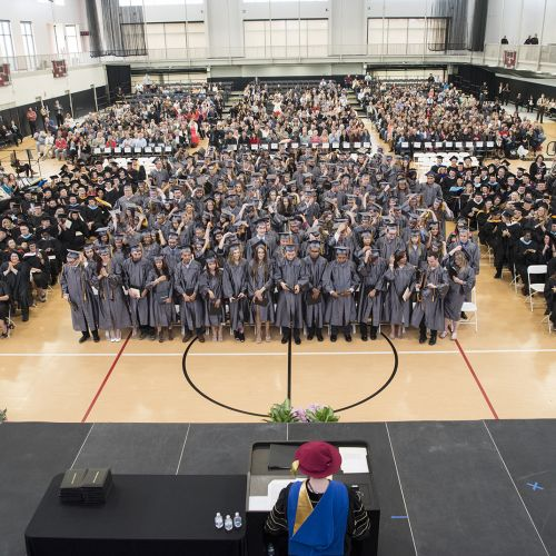 Photo of graduates at 2018 commencement