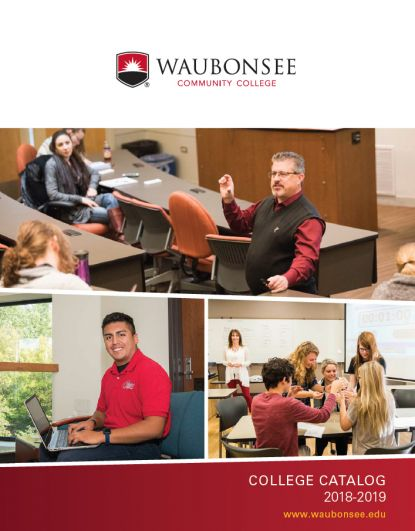 Waubonsee College Catalog 2018-2019 cover